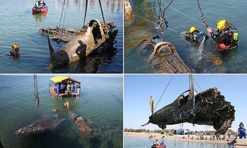 Истребитель времен Второй мировой всплыл с черноморского дна