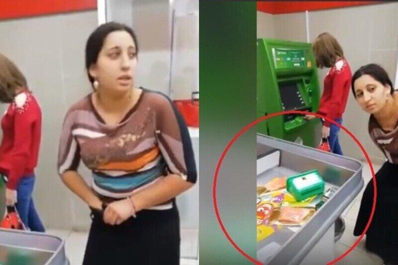 Спалилась: цыганку поймали на краже - под ее юбкой поместилась целая корзина покупок