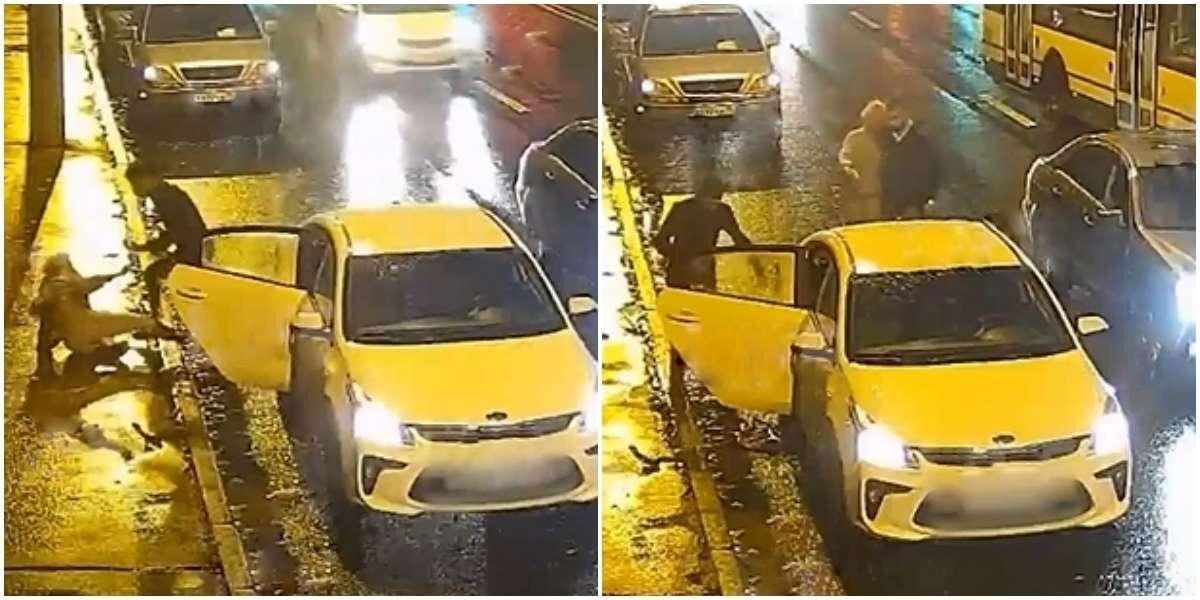В центре Петербурга водитель такси избил пьяную пассажирку