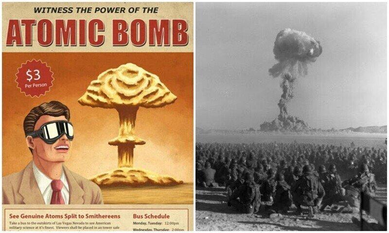 В 50-х ядерные взрывы были аттракционом для туристов