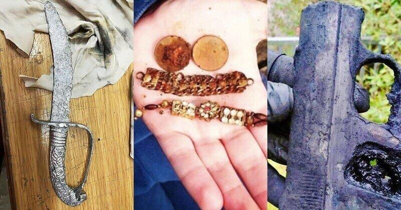 Оружие, протез ноги и многое другое: англичане показывают находки после магнитной рыбалки