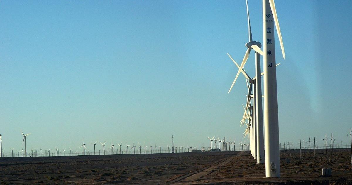 Крупнейший ветропарк Ганьсу, заменяющий собой десяток АЭС