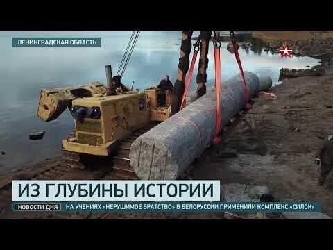 Пролежавшие 200 лет в воде колонны для Казанского собора подняли со дна Выборгского залива