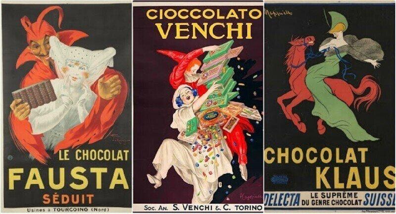 Как выглядела реклама шоколада в Америке в начале 20 века