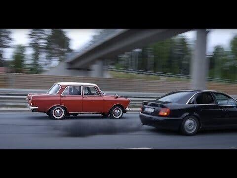Противостояние двух Audi против Москвича