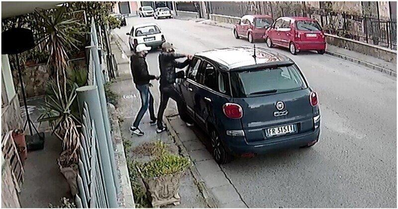 Итальянские преступники угнали автомобиль необычным способом