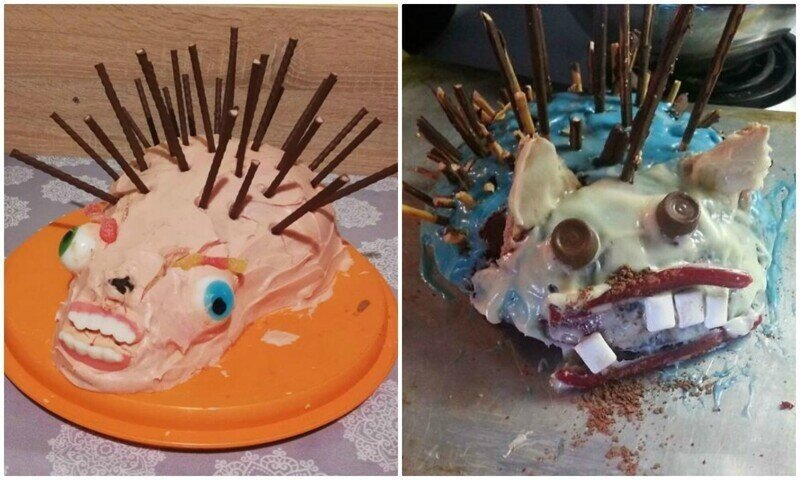 30 неудачных тортов в виде ежей прямиком из ночных кошмаров