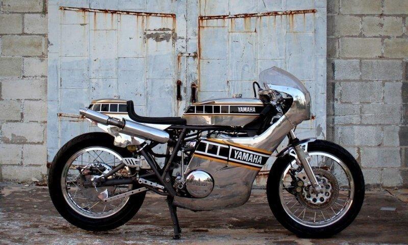 Металлический кастом  из мотоцикла Yamaha TX750A 1974 года