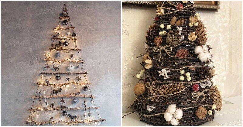 Необычные идеи новогодних елок