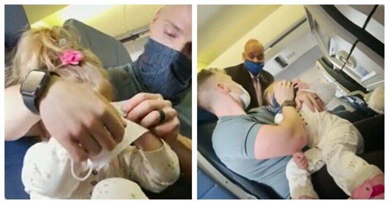 Семью занесли в чёрный список авиакомпании из-за ребёнка, который отказался надеть маску