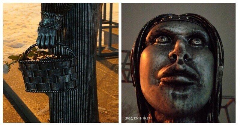 В Нововоронеже установили памятник Алёнке в духе постапокалипсиса