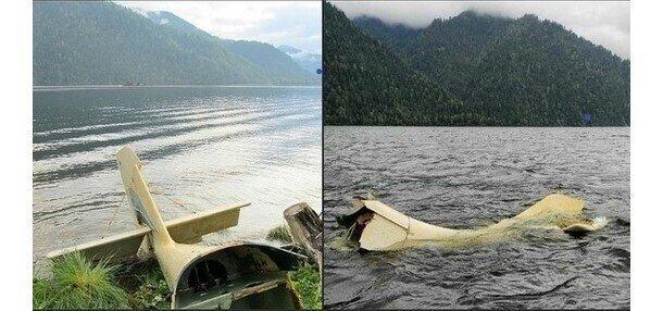 В республике Алтай на Телецком озере всплыл хвост самолета, пропавшего 14 лет назад