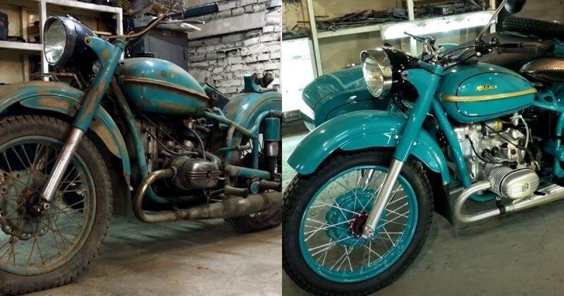 Потрясающее видео: полная реставрация старого мотоцикла «Урал» из 1960-х