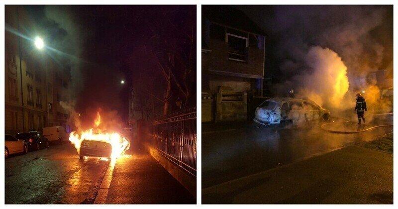 В Страсбурге хулиганы в Новогоднюю ночь сожгли около 60 автомобилей