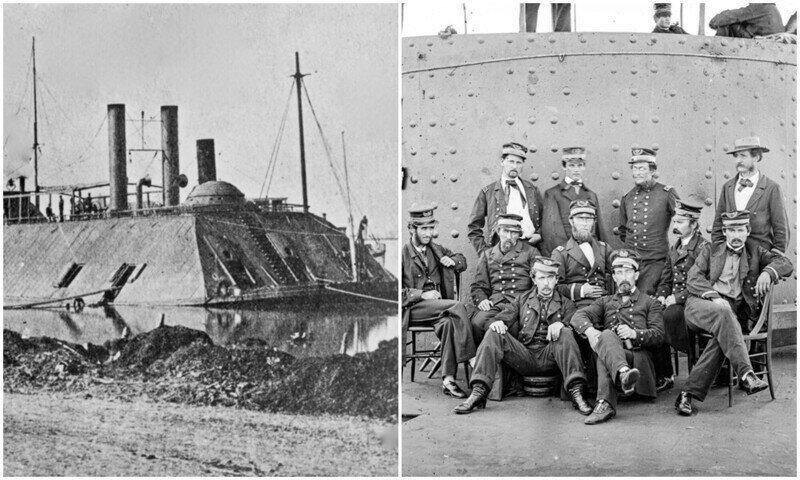 Исторические снимки броненосцев времен гражданской войны США