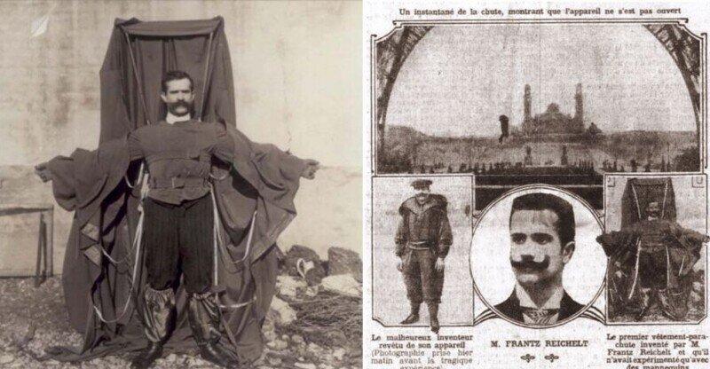 Смертельный прыжок Франца Райхельта с Эйфелевой башни