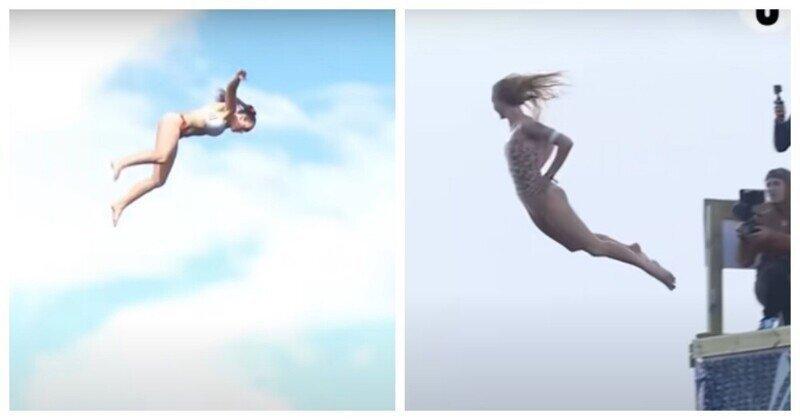 Соревнования девушек по опасным ныряниям 2020