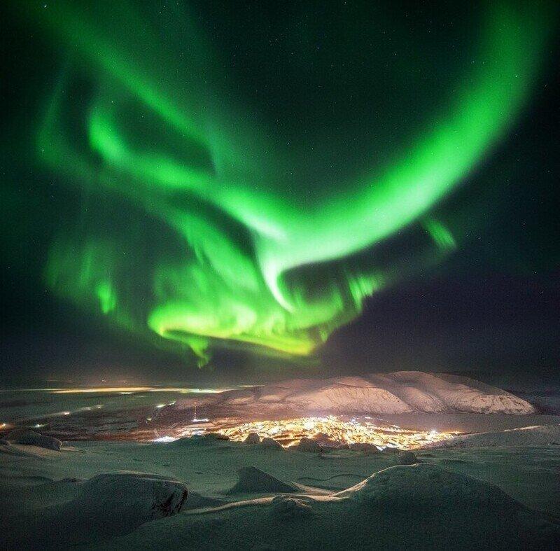Невероятно красивое природное явление- Аврора