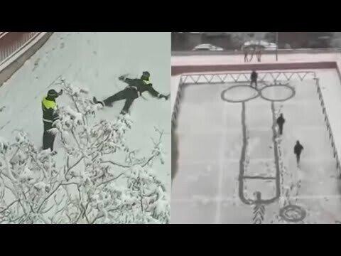 Снежное безумие в Испании