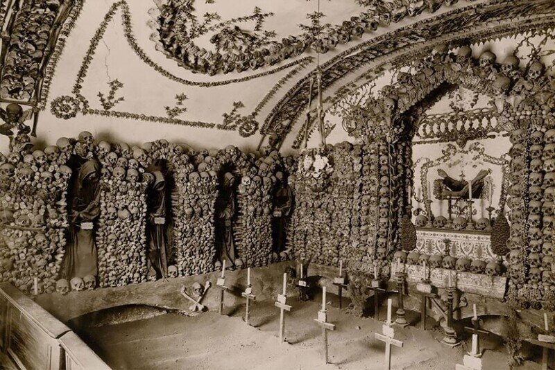Крипта капуцинов в Риме: дизайн на костях