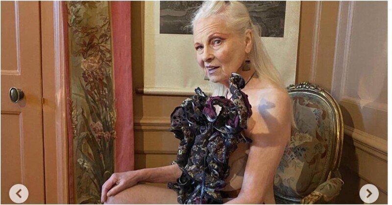 79-летняя законодательница моды разделась в борьбе за сохранение природы