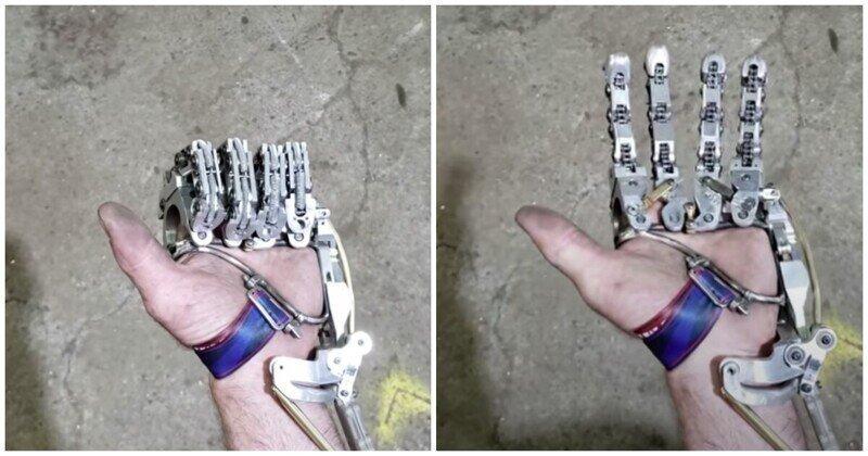 Инженер-механик  изготовил себе механический протез пальцев кисти