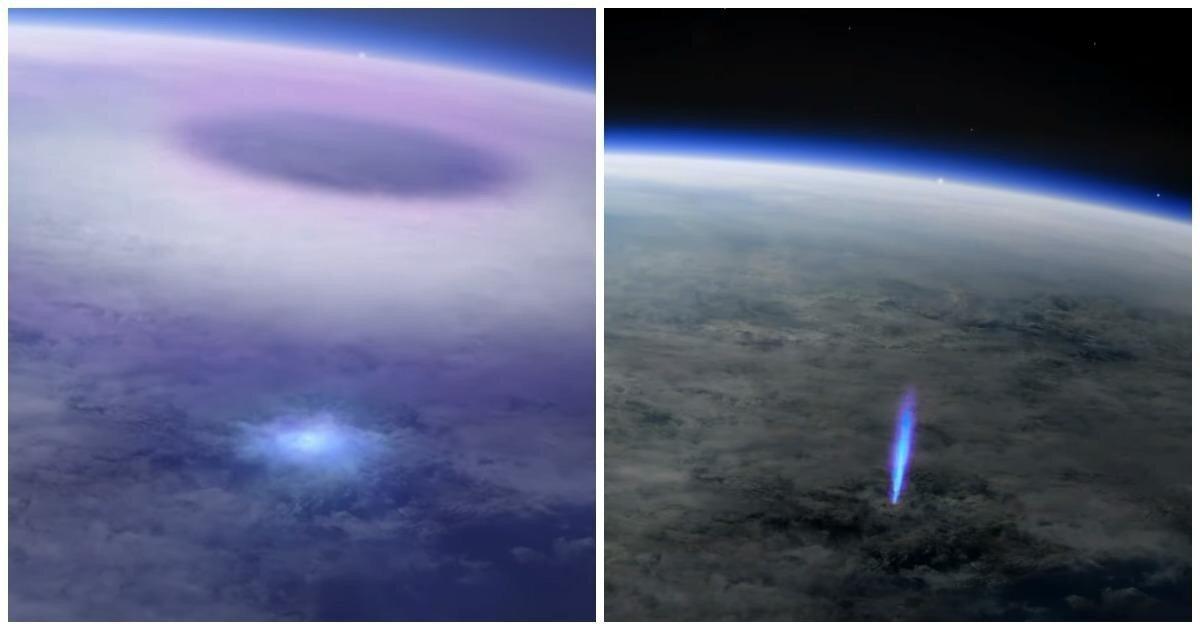 Эльф и синяя струя: камеры МКС засняли редкие молнии