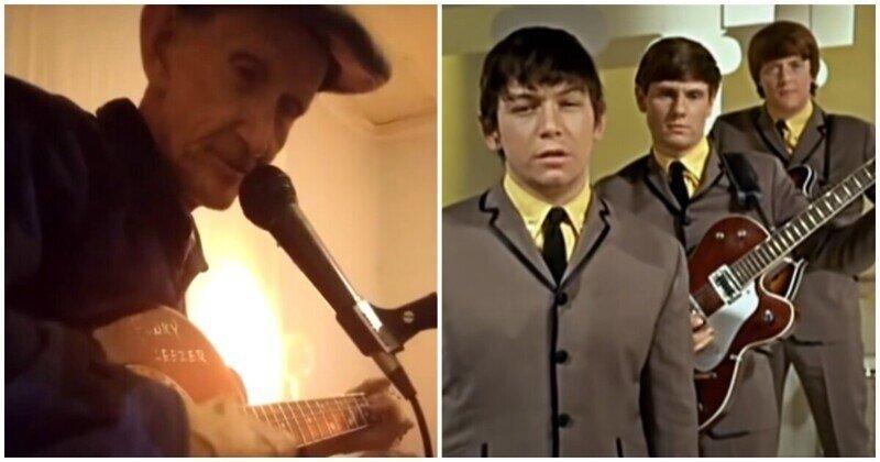 """Известная песня """"The House of the Rising Sun"""" в исполнении талантливого дедушки"""