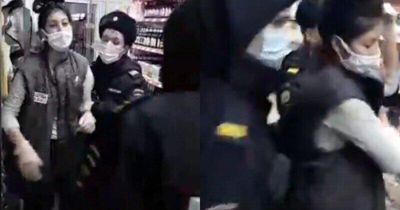 """Полицейские Татарстана задержали и скрутили продавца """"Магнита"""" из-за соскочившей с лица маски"""