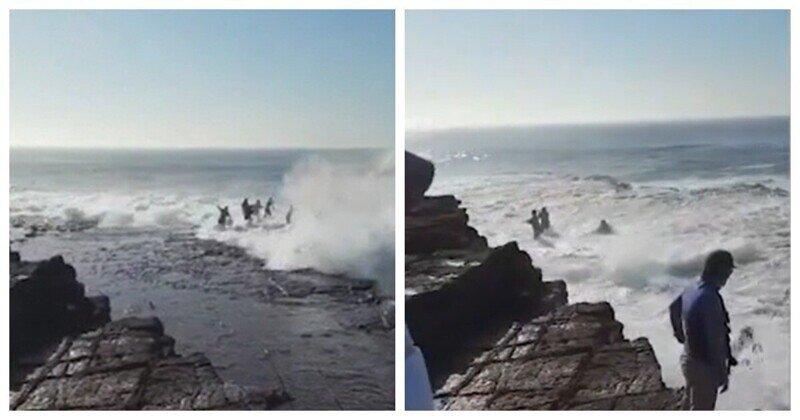 """""""Слабоумие и отвага"""": мужчины продолжают рыбачить на скалах, на которых постоянно гибнут рыбаки"""