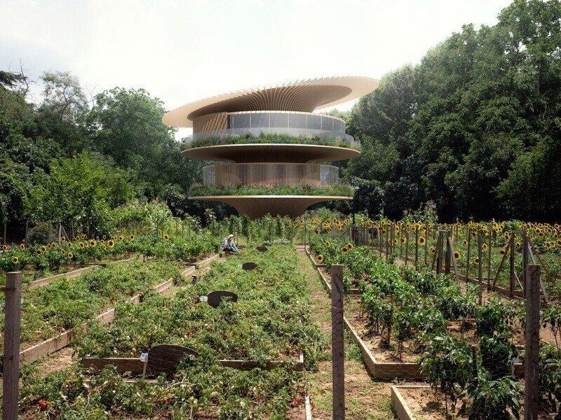 Архитектура будущего: дом-подсолнух, который движется к солнцу, как цветок