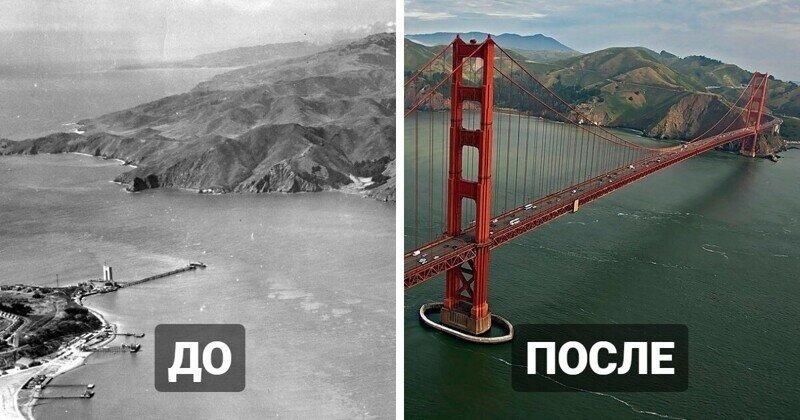 Как раньше выглядели места, на которых были построены знаменитые мировые достопримечательности