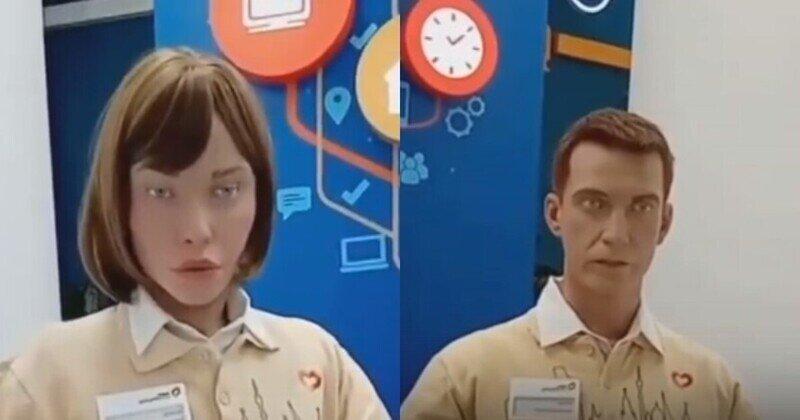 Крипота дня: роботы Даша и Алекс разговаривают с клиентом в МФЦ
