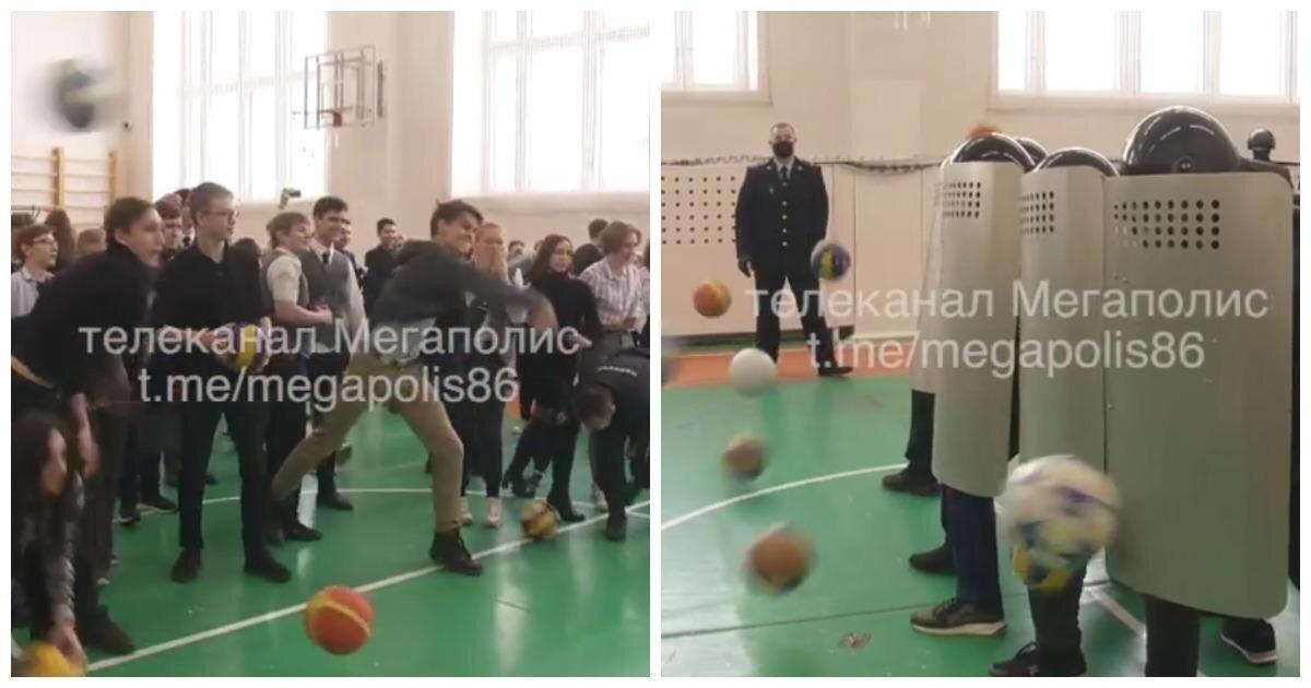 Полицейские сыграли со школьниками в «ОМОН и протестующих»