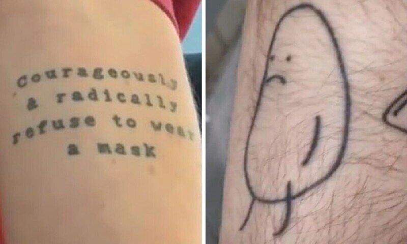 25 счастливчиков, выигравших в конкурсе на самую глупую татуировку