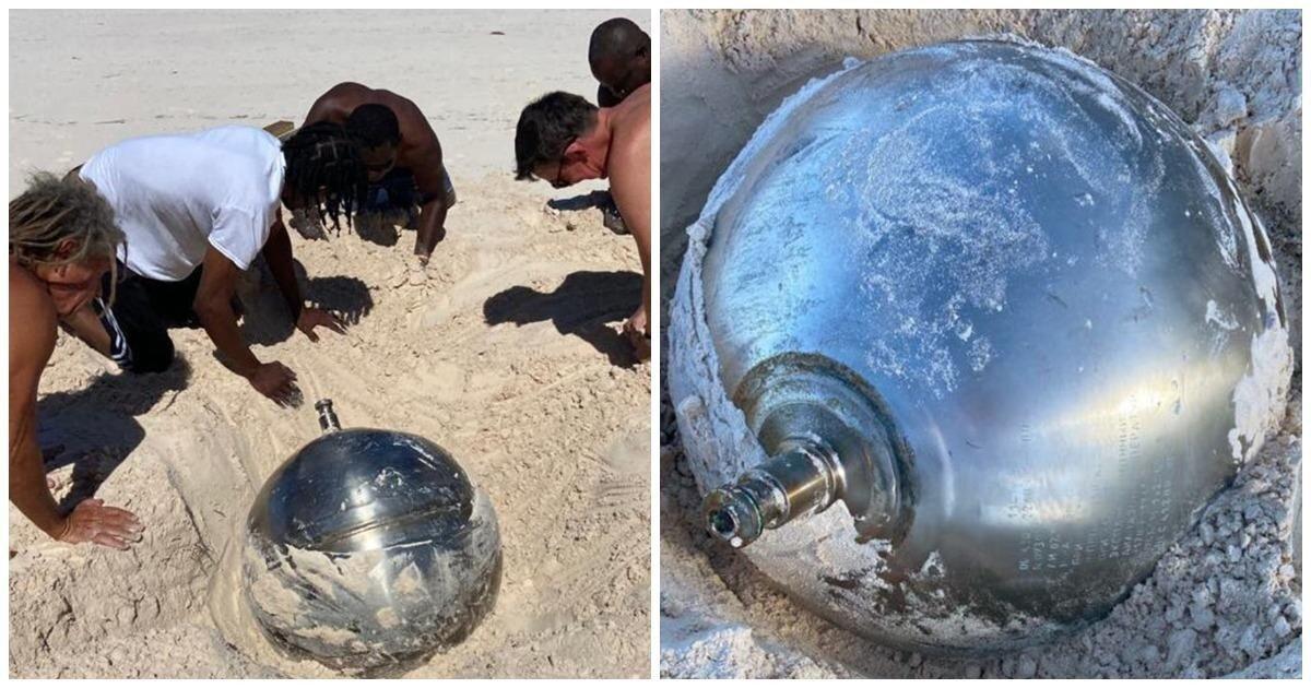 На Багамах нашли странный титановый шар с надписями на русском языке