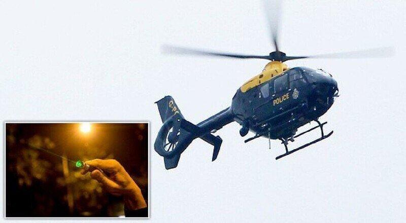Мужчина ослепил пилота вертолета лазерной указкой и отправился в тюрьму