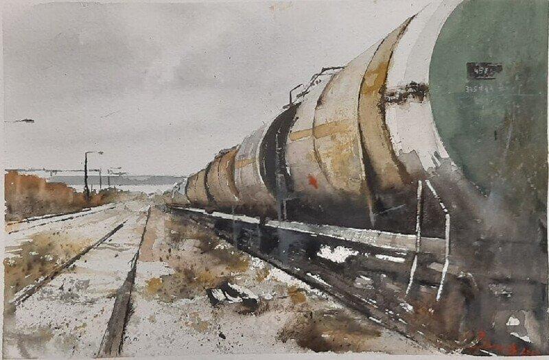Нарисованное железнодорожье