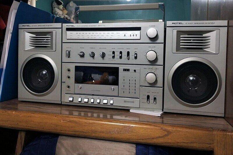 8 редких переносных кассетных магнитол  восьмидесятых. Rotel, Sansui и Yamaha тоже делали это