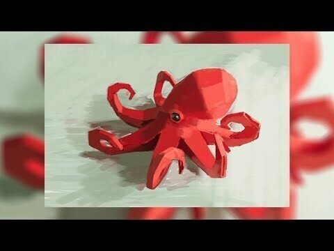 Рисуем осьминога