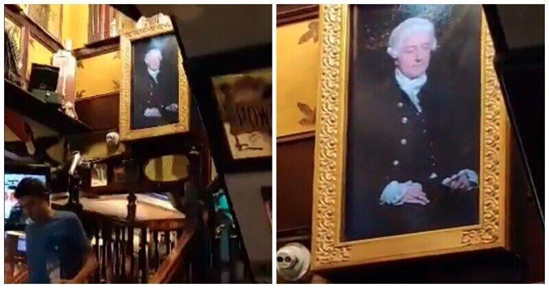 Необычная картина в ирландском пабе
