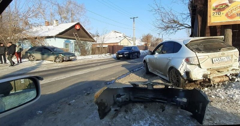 Авария дня. Столкновение двух Subaru в Иркутске