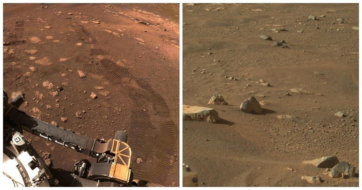"""Марсоход Perseverance сделал свои первые """"шаги"""" и прислал новые снимки"""