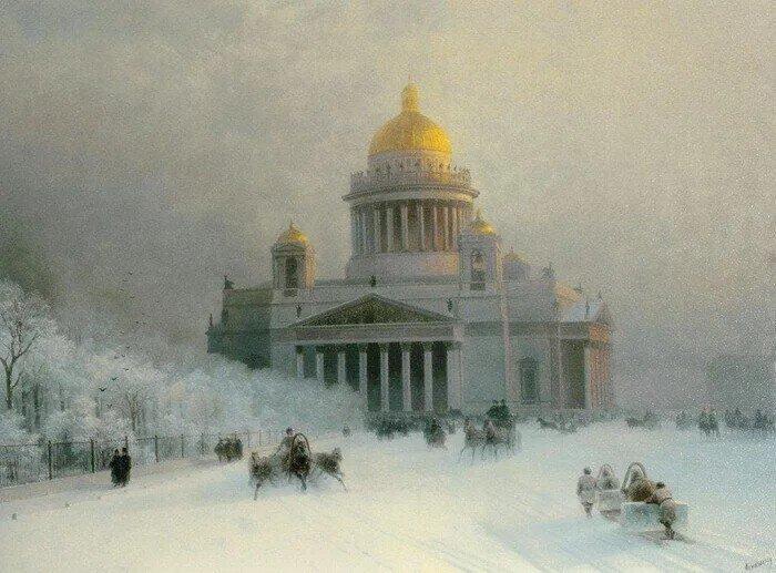 Зимние пейзажи Айвазовского. Смотрим, как мастерство художника пересилило нелюбовь к холодам