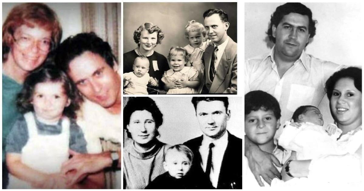 Обычные папы и мужья: 15 фото отъявленных преступников и маньяков в кругу семьи