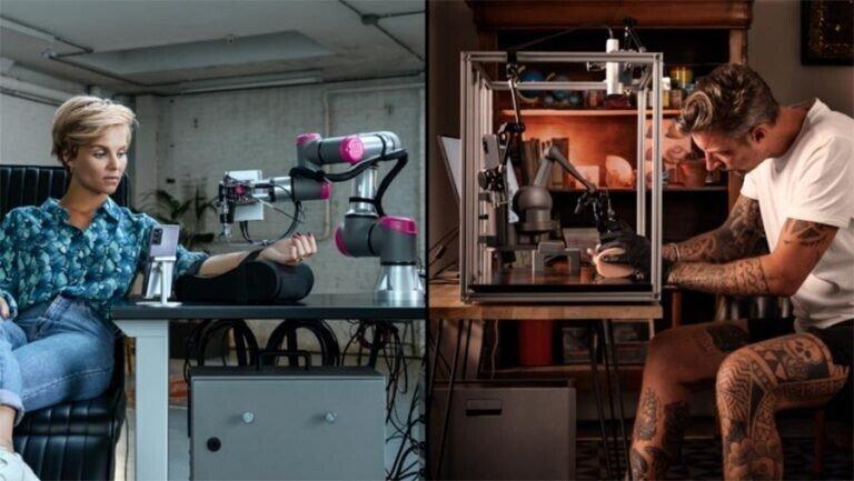 Художник нанёс татуировку с помощью роботизированной руки