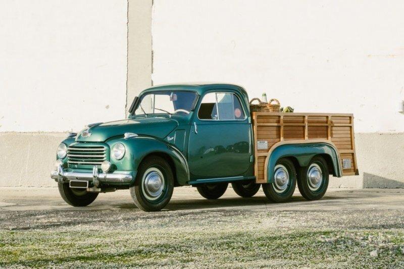 Fiat 500 C Ollearo — симпатичный 70-летний шестиколесный грузовичок