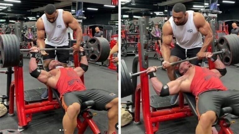 У бодибилдера разорвалась грудная мышца при попытке выжать 220 кг