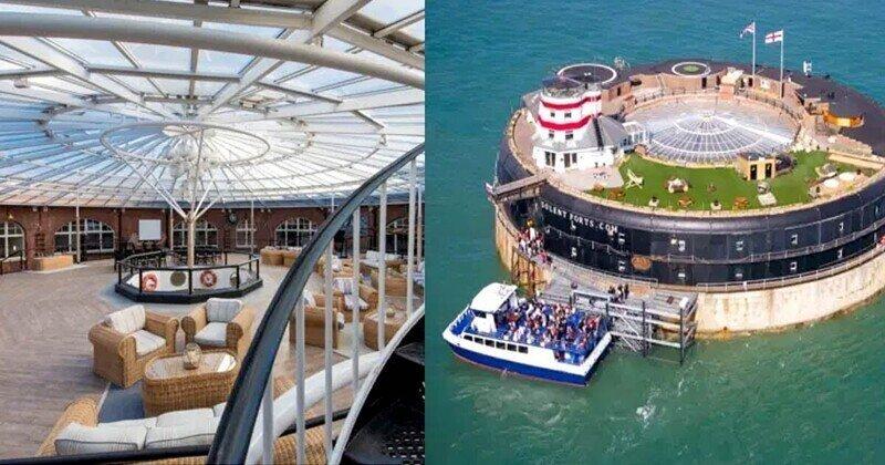Морской форт с вертолетной площадкой и сауной выставили на продажу