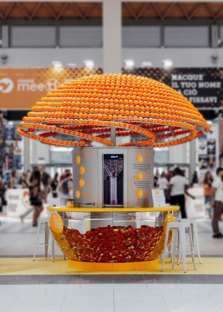 Апельсиновые корки - материал для создания чашек для сока